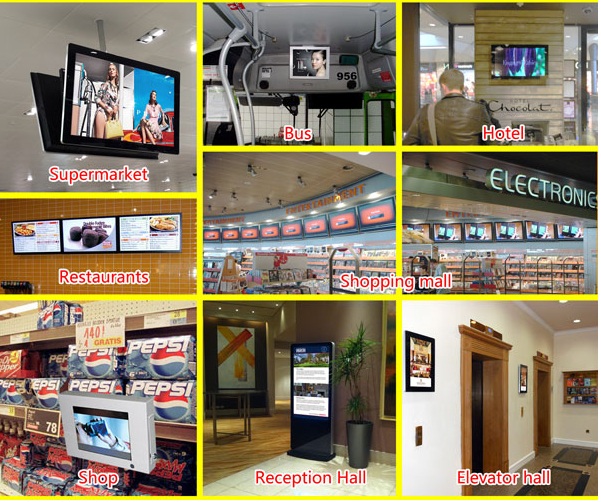 "22"" Android 3G LCD Advertising Player With Bus Stop Announcerment System"