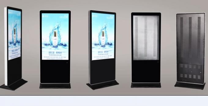 Audio 4G Touch Screen Digital Signage 32 Inch , Adjustable Free Stand LCD Display