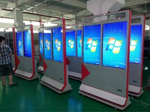 Double Screen 47Inch LCD Digital Signage Display High definition For Airport