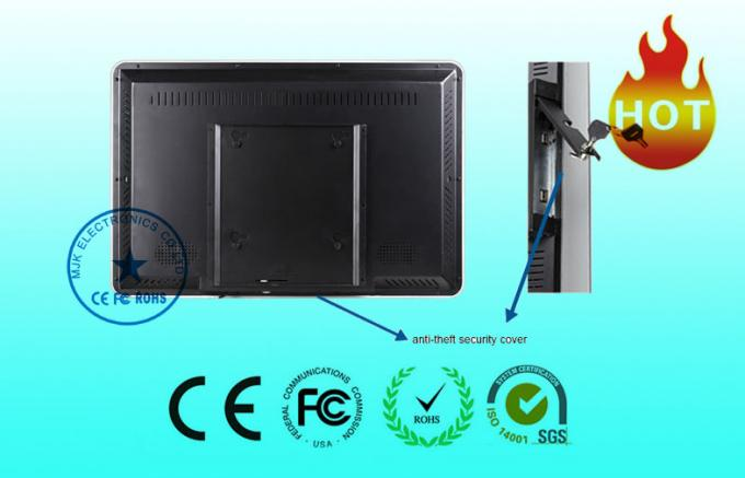 High Resolution Wall Mount LCD Display 16.7M Real Color / 16:9 Ratio