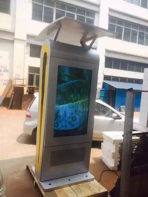 Windproof 2000 Nits Outdoor Digital Signage , Digital Advertising Screens For Bus Station
