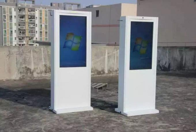 High Brightness Free Standing digital signage lcd display For Public Places