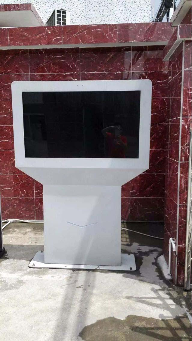 Silver Color Customized Outdoor Digital Signage Display 55 Inch Pixel Pitch 0.4845*0.4845mm