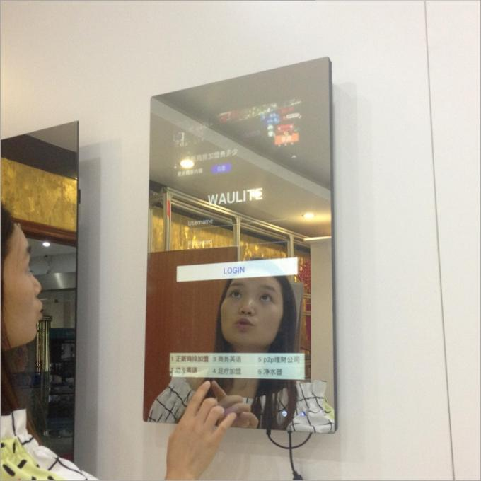 42 Inch Magic Digital Mirror Advertising , Wall Mounted Advertising Player