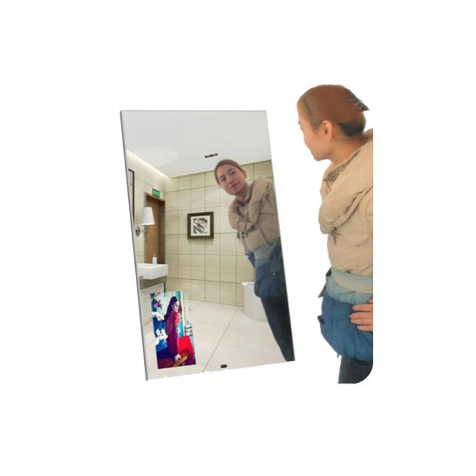 Interactive Touch Kiosk Magic Mirror Display 32 Inch LG Screen Infrared Sensor For Hotel