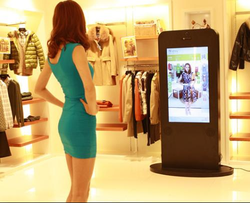 43 Inch Modern Magic Mirror Display For Bathroom , Touch Screen Mirror Sensor Led Light Box