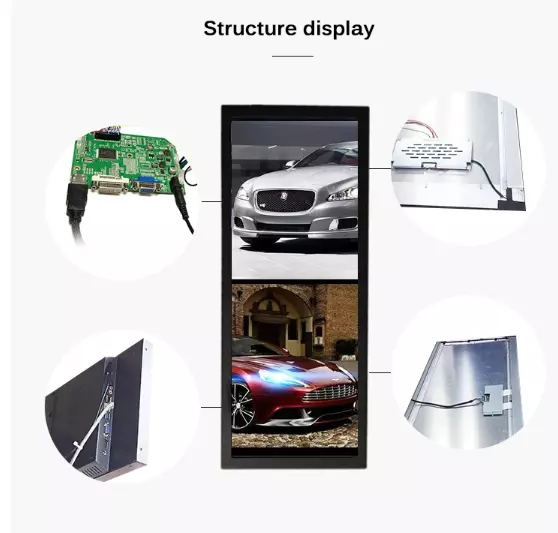 AC100-240V Waterproof Digital Signage Advertising Media Player LCD Kiosk For Touch