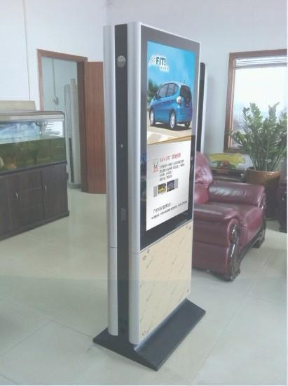 Super Slim Glass Frame Double Sided LCD Digital Signage 43 55 Inch For Advertising