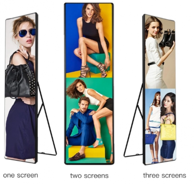 43'' LCD Advertising Touch Screen Mirror , Customized Led Display Lightbox With Sensor