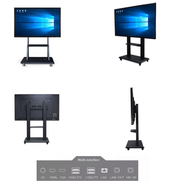 Interactive Whiteboard LCD Digital Signage Display 84'' Education Tv Touch Screen