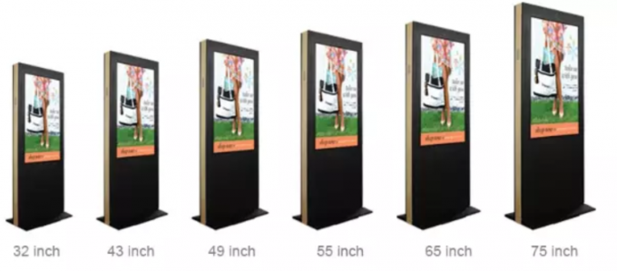 55'' Outdoor Advertising Lcd Display Screen , Floor Stand Digital Signage Kiosk