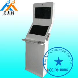 China Windows Os Shockproof Free Standing Digital Signage Kiosk 32 Inch Double Screen supplier