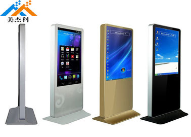 China Heavy Duty Floor Standing Digital Signage Monitor 49 Inch For Shopping Mall supplier