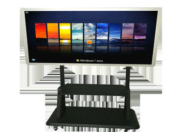 Wireless Digital Electronic Free Standing Lcd Display 65'' 10 Points Infrared Touch