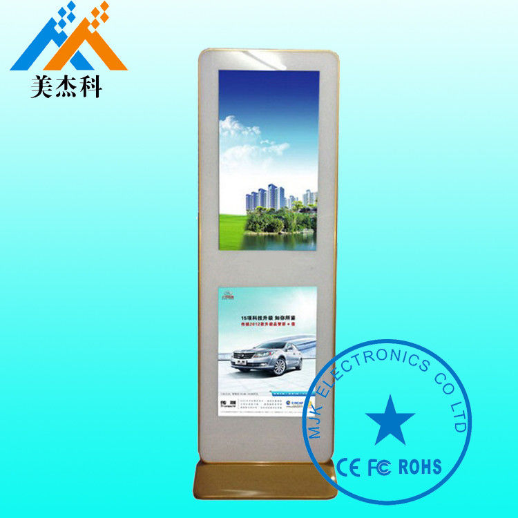 Vertical LCD Advertising Touch Screen Digital Signage Kiosk 500CD Brightness