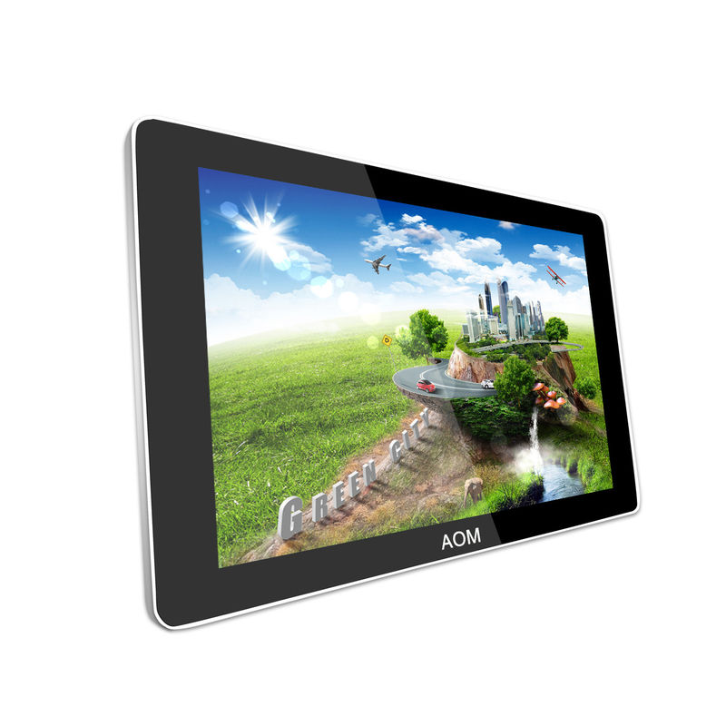 Wifi 3G 82 Inch Industrial Wall Mount LCD Display Network Metal Shell