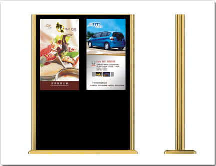 Double Screen Free Standing Digital Signage Lcd Advertising Player