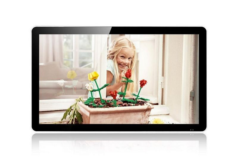 Retail Shop Wall Mount Custom LCD Display Support SD / CF Card