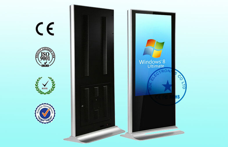 55 Inch All In One Wifi Digital Signage Kiosk Lower Consumption , Windows 7