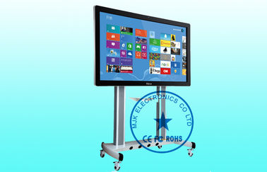 External HD Free Standing Digital Signage Kiosk Touch Screen 1080P For School