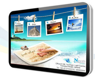 Ultra Slim 18.5 Inch Stand Alone Digital LCD Screen Signage / Airport LCD Advertising Display