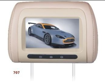 "China High Resolution 7"" Car Seat LCD Screen Advertising Display USB MPEG4 factory"