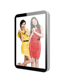 "15"" 17"" 42"" Vertical Stand Alone LCD Display Advertising Aluminium Frame , PAL NTSC"