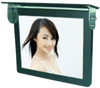 "17"" 3G Bus Digital Signage Monitor / LCD Advertising Display Ceiling mounted With Scrolling Marquee"