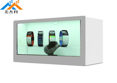 Index Transparent LCD Display Box Video Showcase 350cd/m2 Brightness AC 100-240V