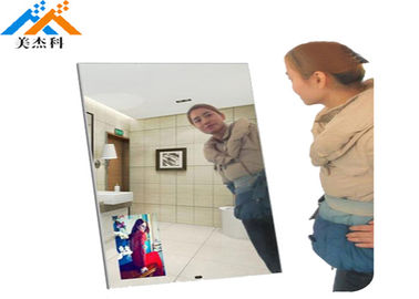 Auto Loop Play Led Backlit Mirror , Magic Mirror Led Display With Wifi Motion Sensor