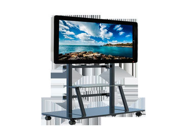 China Movable Digital Signage Screens , 65 Inch Free Standing Lcd Display 4k 500cd/m² factory