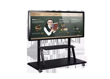 Interactive LCD Digital Signage Display 400 Nits Intel I3 CPU CE FCC ROHS Approval