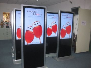 Bank Touch Screen Advertising Digital Signage 3G WIFI Floor Standing