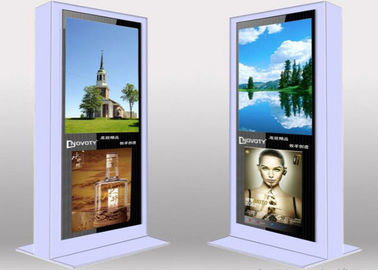 Single Side Outdoor Digital Signage LCD Display Floor Standing Advertising Players IP65