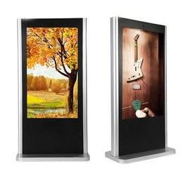 "OEM Touch Screen Floor Standing 42"" - 65"" LCD Digital Signage Display With WIFI / 3G"