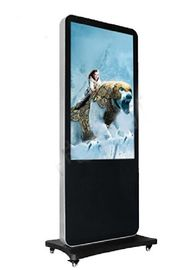 "China Indoor / Outdoor Advertising Floor Standing 42"" Touch Screen With Wheels factory"