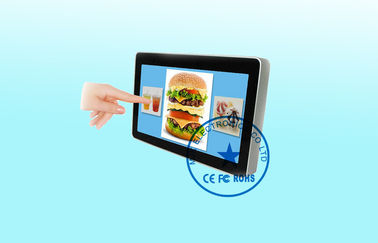 Wifi / 3G 32 Inch Wall Mount LCD Display Infrared Sensor dustproof