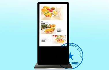 "65"" Floor Standing Advertising Digital Signage English German , Villa / Theater Video LCD Display"