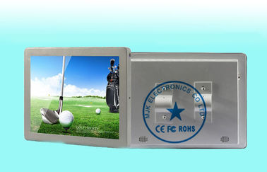 Silvery Antivibration Bus LCD Digital Signage Display For Advertising