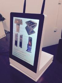 Quad Core 12.1 inch Vertical LCD Display With Rotating Base , Wifi And 3G
