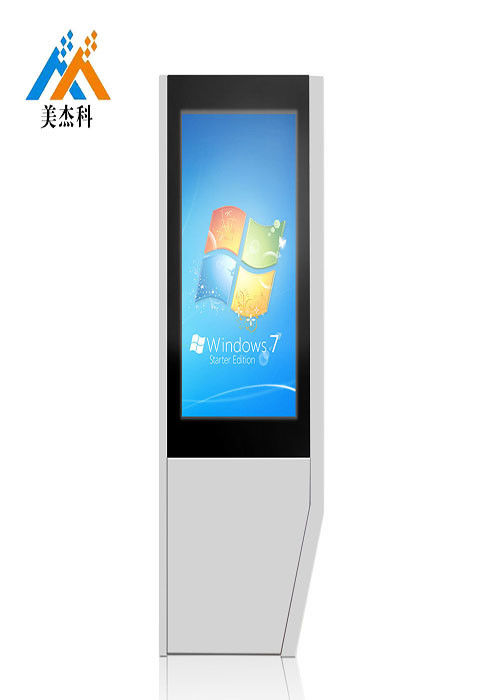 Double Sided Digital Touch Screen Signage 43 Inch Floor Standing 178°/178° Viewing Angle